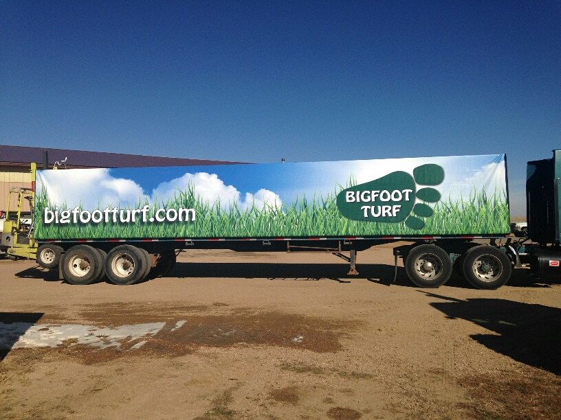 Semi Trailer Covers : Tractor trailer cover tarp custom graphics for sod trailers